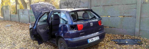 Grantowy Seat Ibiza na krakowski