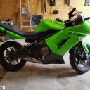 Motocykl Kawasaki ER6-F zielony