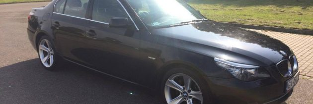 BMW E60 CZARNE SEDAN