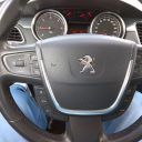 Peugeot 508 srebrny sedan