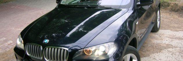 Granatowe BMW X5 E70 2008r